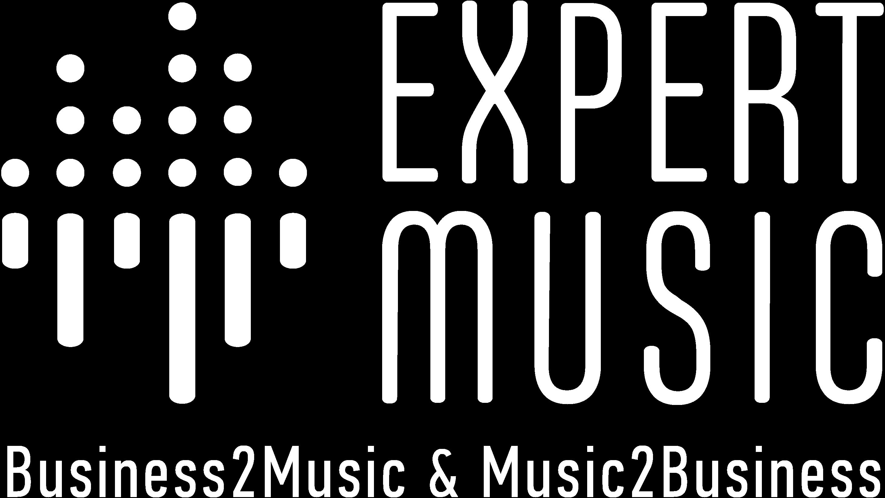 ExpertMusic logo white